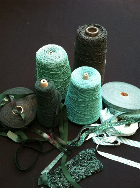 Emerald Fresh Green emerald minty fresh green palette ribbon thread