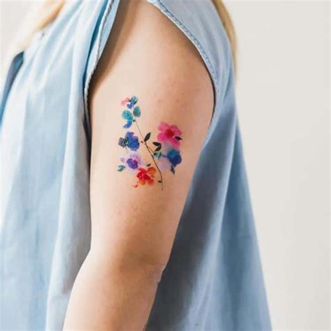 watercolor tattoo pain temporary watercolor tattoos adorn your in beautiful