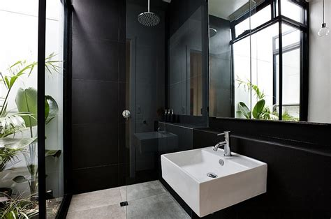 plants for dark bathroom 20 exquisite bathrooms that unleash the beauty of black