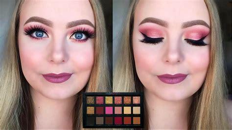 tutorial makeup huda beauty huda beauty rose gold palette makeup tutorial youtube