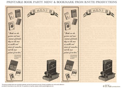 printable golf bookmarks bnute productions free printable book party menu and bookmark