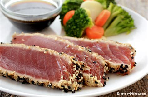sesame seared tuna steak recipe