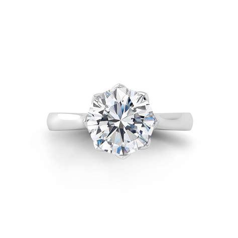 danhov classico single shank tulip basket engagement ring