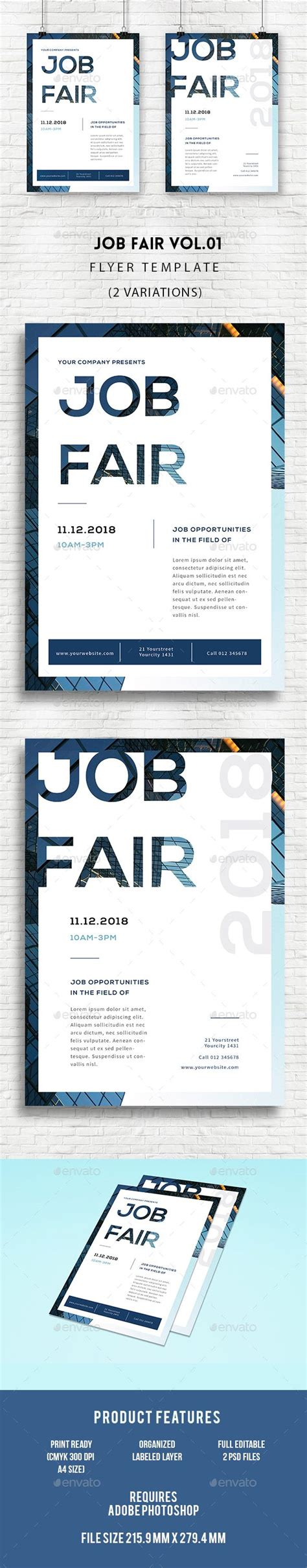 design event jobs job fair flyer type treatments design and event poster