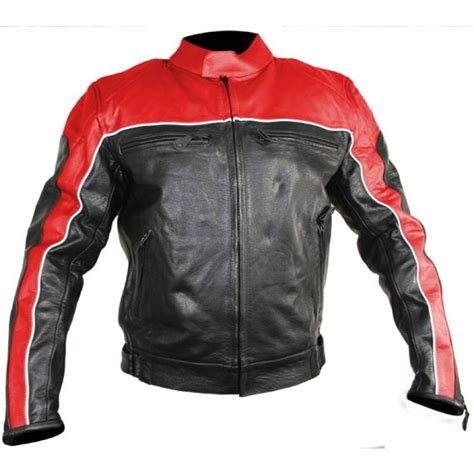red and black motorcycle jacket men s black and red racer motorcycle jacket