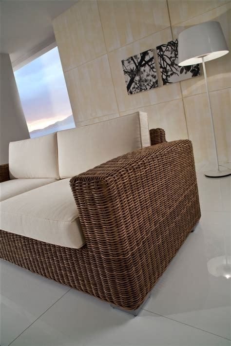 divani rattan sintetico divano 3 posti polyrattan etnico outlet mobili etnici