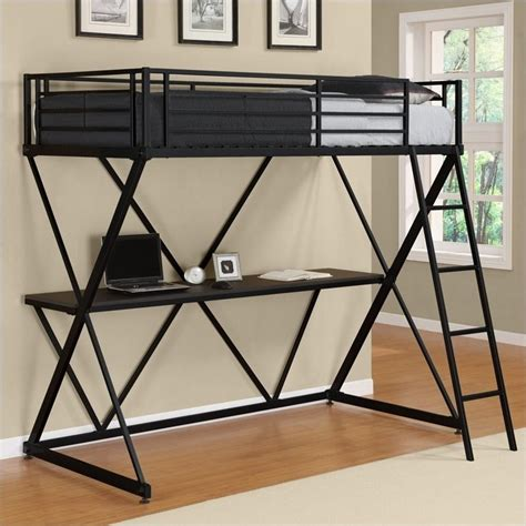 metal twin loft bed ameriwood x shaped twin metal loft bunk bed black ebay