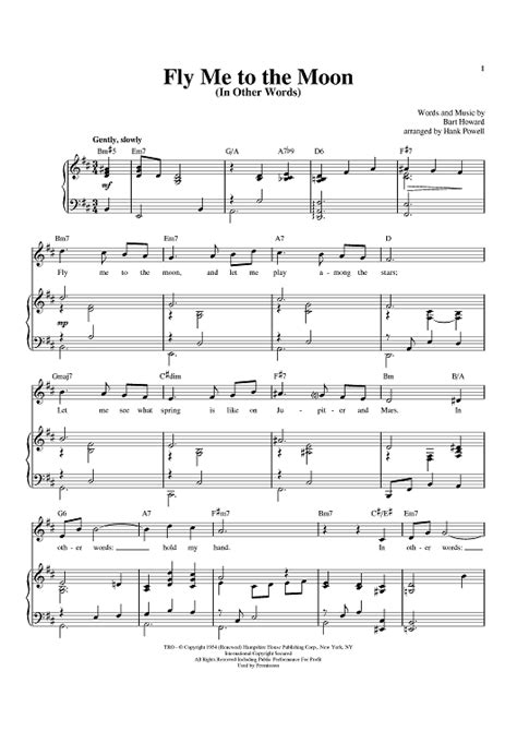 tutorial piano fly me to the moon fly me to the moon in other words sheet music for
