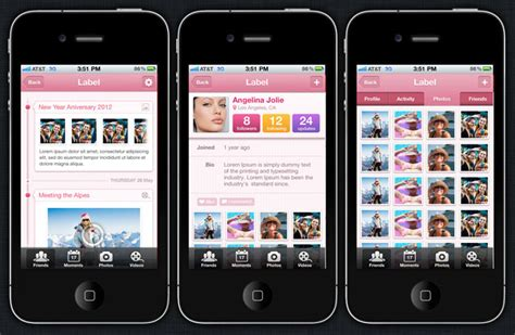ios app design templates moments iphone and ios app ui design templates