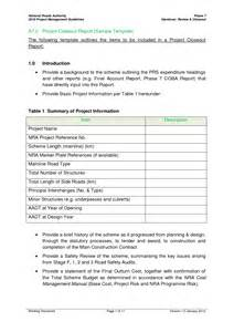 Close Out Report Template Best Photos Of Project Report Out Template Project