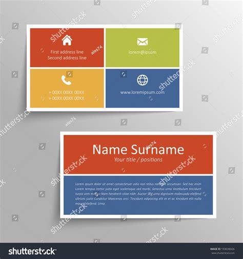 simple business card website template modern simple business card vector template stock vector