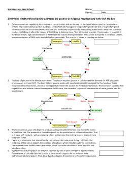 Feedback Mechanisms Worksheet Answers by Feedback Mechanisms Note Set