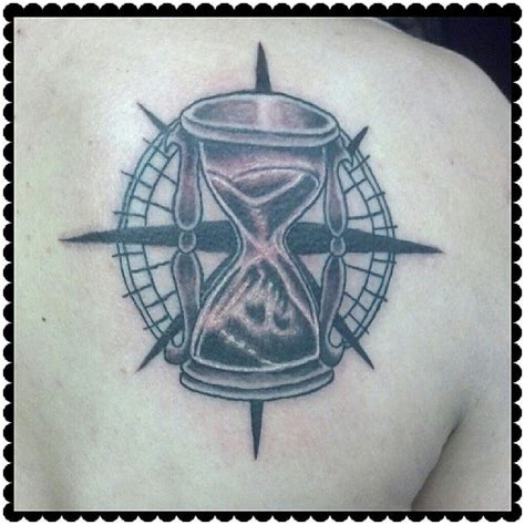compass hourglass tattoo compass hourglass time direction inkedup photoofthed