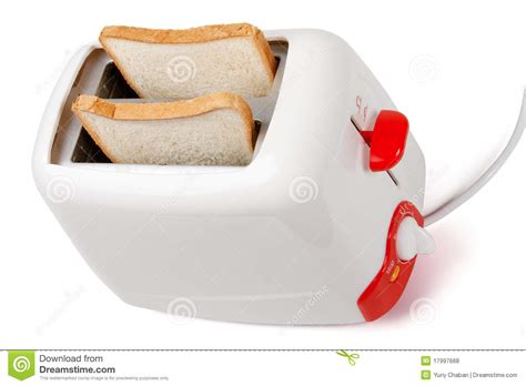 Toaster Settings Toaster With Bread Inside Royalty Free Stock Photos