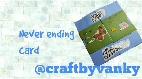 how to make an infinity card how to make never ending greeting card infinity card
