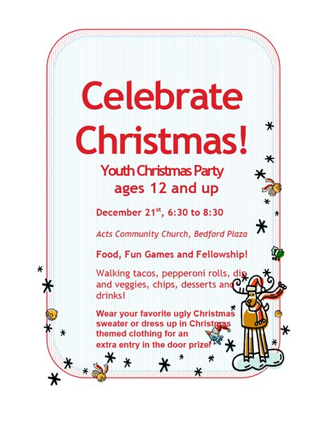 youth christmas party acts church
