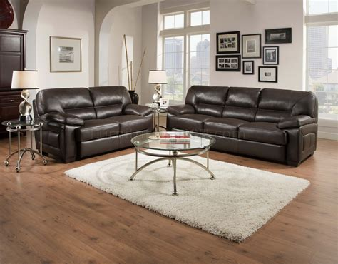 Truffle Brown Top Grain Leather Modern Sofa Loveseat Set Top Grain Leather Sofa Set