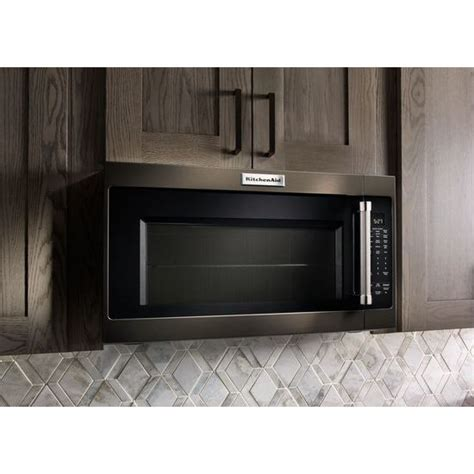 kitchenaid microwave hood fan kmhs120ebs kitchenaid black 30 quot 2 0 cu ft 1000w over the
