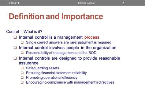 controlling definition internal control definition significance youtube