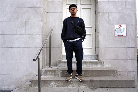 Sweater Converse Shoes Hitam Dan Navy dan pantoja topman black cuffed beanie chion navy weave crewneck asos black