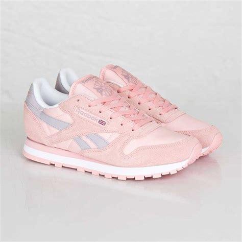 light pink reebok classics pink reebok leather seasonal i rosa