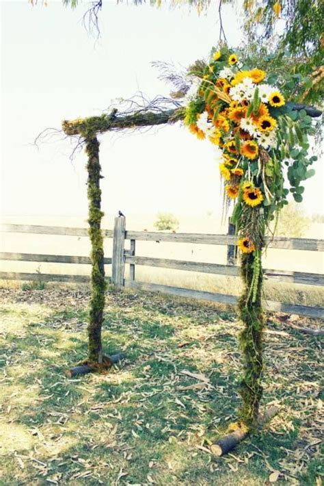 sunflower arch. I love this but the wind on the beach