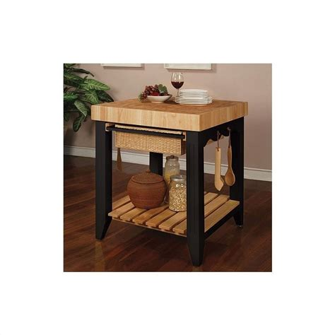 powell kitchen island color story black butcher block kitchen island 502 416