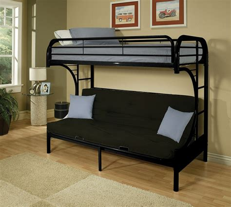futon with twin bed on top couch bunk bed with amazing functions that you can use