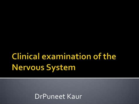 clinical examination nervous system