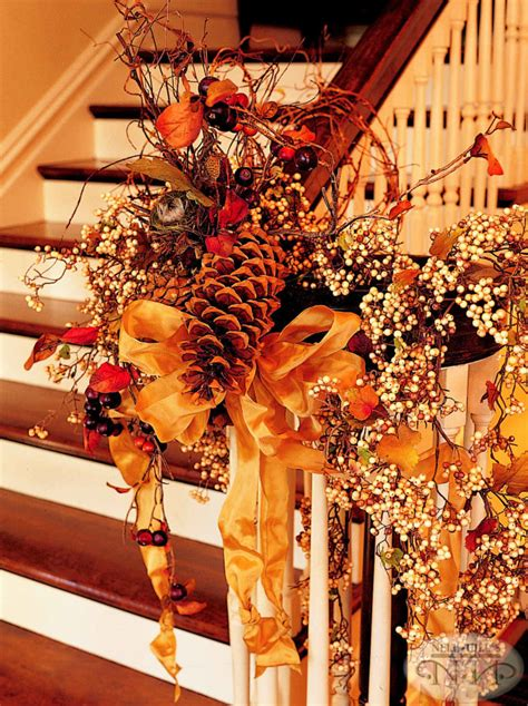 30 cozy fall staircase d 233 cor ideas digsdigs decorating themes 35 cozy fall staircase d 233 cor ideas