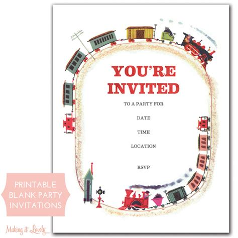 making it lovely train party invitations free printable making it lovely