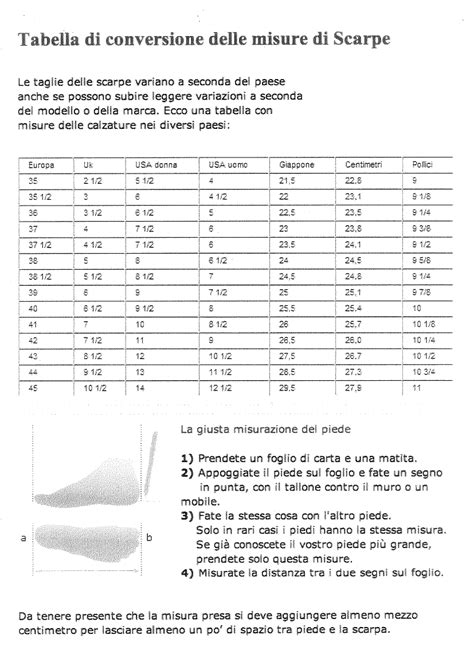 misure scala interna misure per i piedi scarpe on line with larghezza scala interna