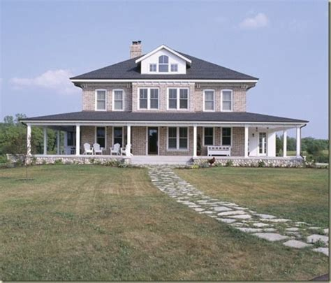 wrap around porch beautiful home exteriors pinterest brick farmhouse home exterior pinterest wrap around