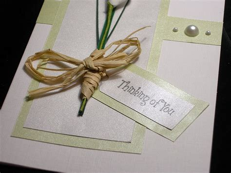 Handmade Sympathy Cards - calla handmade sympathy card