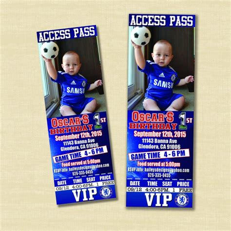 party themes on made in chelsea custom chelsea soccer theme birthday invites custom photo