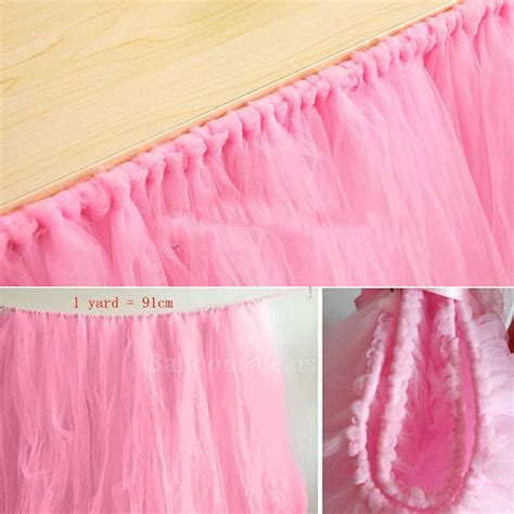 tulle table skirt for sale cheap pink tulle table skirt fabric table skirts for