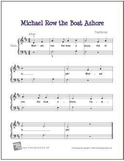 michael row the boat ashore bible mejores 1177 im 225 genes de piano sheet music beginner and