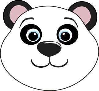 blue black and wight panda panda bear head clip art panda bear head image