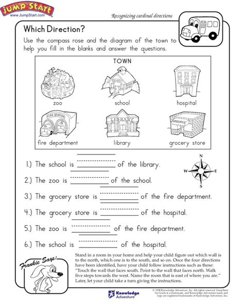 directions exercises printable cardinal directions worksheet printable search results