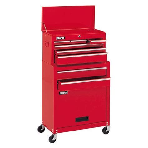 smart clarke 8 drawers tool chest and wheeled cabinet