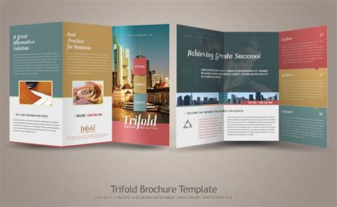 flyer design inspiration pinterest simple tri fold brochure template 20 simple yet beautiful