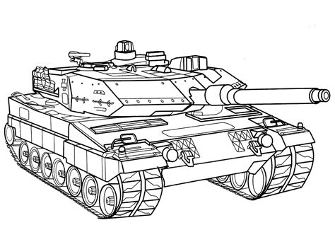 coloring page battle tank germany
