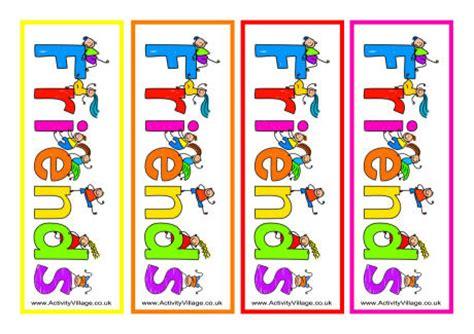 printable bookmarks activity village friends bookmarks