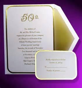 gold bordered wedding anniversary invitations item be24106