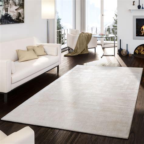teppich creme teppich handgetuftet modern qualit 228 t edel viskose garn