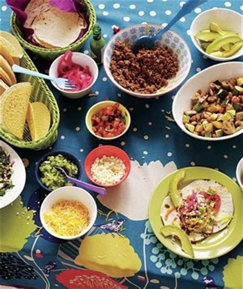 taco bar topping ideas how to set up a family friendly taco bar real simple