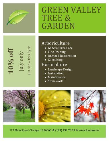 landscaping flyers templates contemporary design landscaping flyer template with coupon