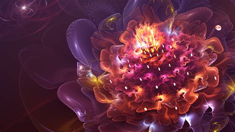 Wallpaper 3d abstract flower wallpapers hd wallpapers id 17718