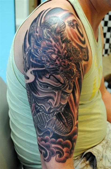 half sleeve dragon tattoo designs asian half sleeve designs creativefan