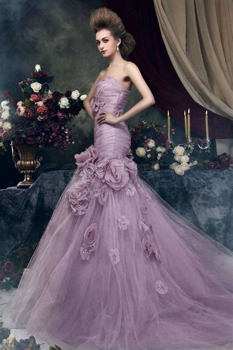 flower design wedding dresses colored wedding dresses are more and more popular